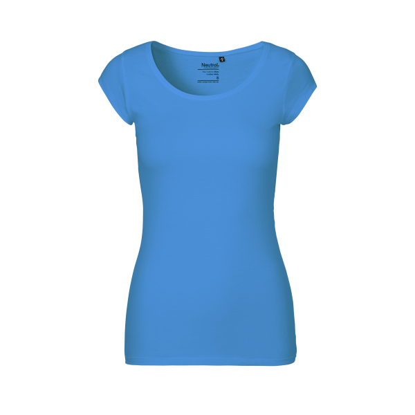 Neutral Diepe Ronde Hals T-Shirt Vrouw - O81010