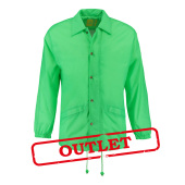 L&S Coach Jacket Nylon Bright Green-35% korting XXXL