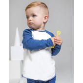 Baby Superstar Baseball T - Washed White/Swiss Navy