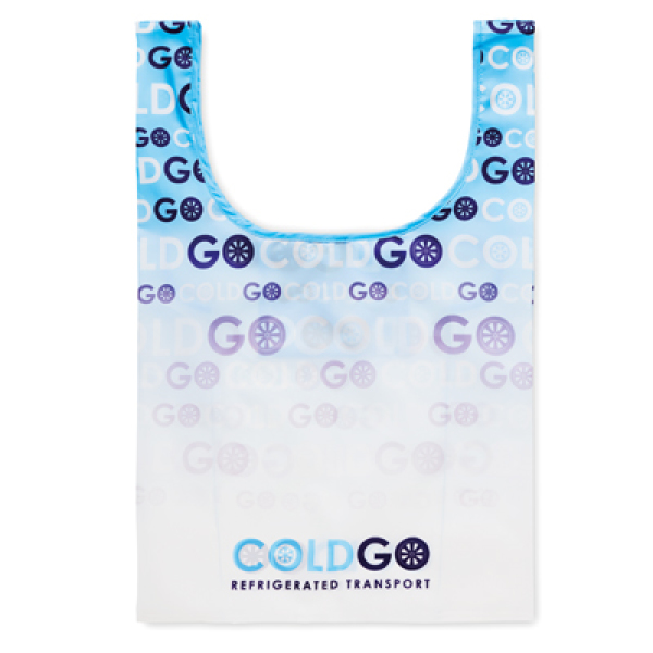 Foldable vest shopping bag with inside pocket