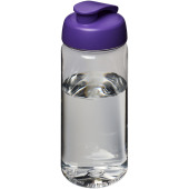 H2O Octave Tritan™ 600 ml sportfles met flipcapdeksel - Transparant/Paars