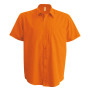 Ace - heren overhemd korte mouwen orange l