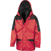 Alaska 3-in-1 jacket red / black s