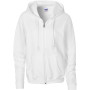 Heavy blend™ ladies' full zip hooded sweatshirt white m