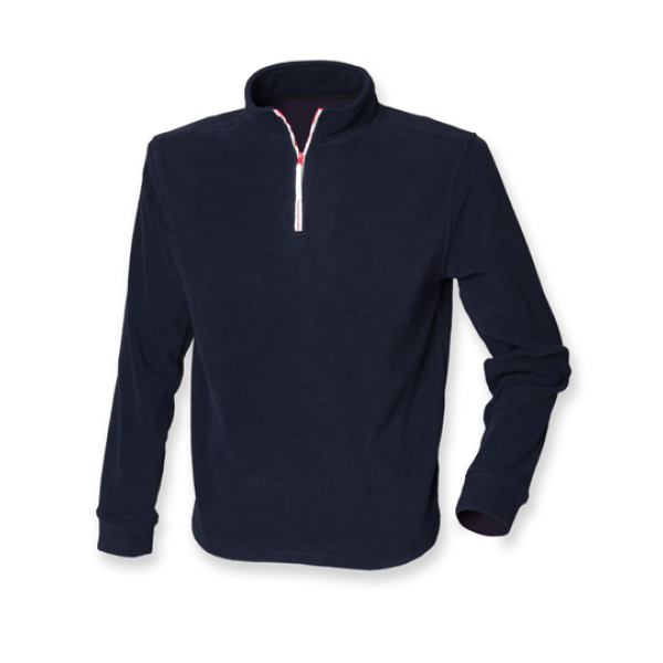 1/4 Zip Long Sleeved Fleece Piped