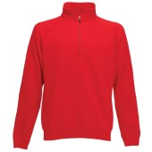 Premium zip neck sweat (62-032-0) red s