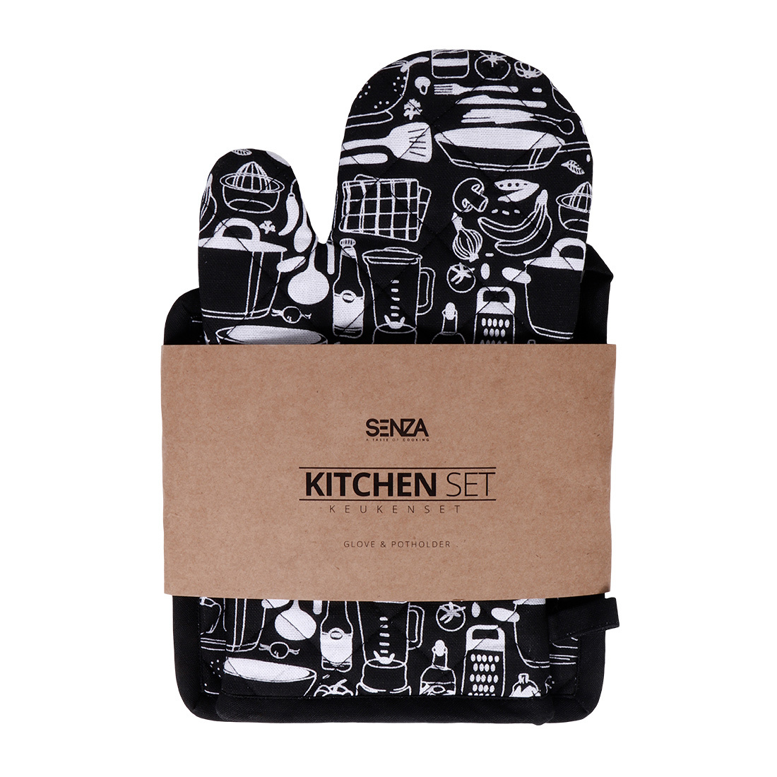 SENZA Glove & Potholder Black