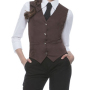 Ladies Vest Lena 52 Light Brown (ca. Pantone 2322C)