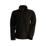 Enzo - fleece met ritskraag dark chocolate 3xl