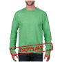 Anvil Sweater Crewneck French Terry for him Heather Green-35%Korting XXL