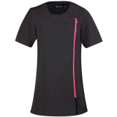 'camellia' beauty & spa tunic black / hot pink m (12 uk)