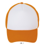 Bubble, White/Neon Orange, One size, Sol's