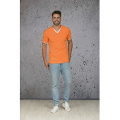 L&S T-shirt Double-V cot/elast SS for him