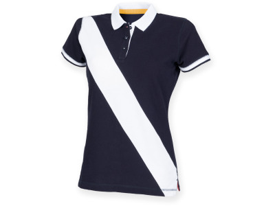 Diagonal stripe ladies' polo shirt