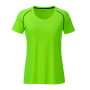 Ladies' Sports T-Shirt felgroen/zwart