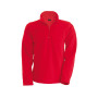 Enzo - fleece met ritskraag red 4xl