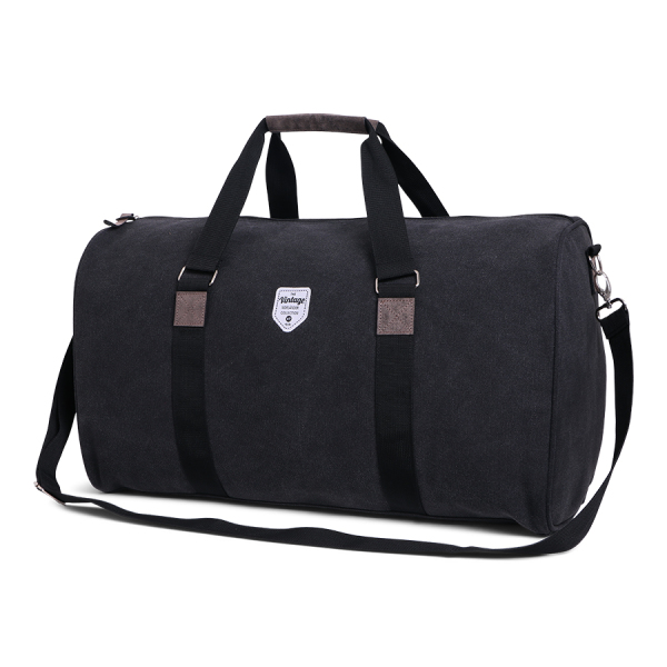 Vintage Canvas Weekend Bag Black
