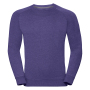 Adults HD Raglan Sweat, Purple Marl, XXL, RUS