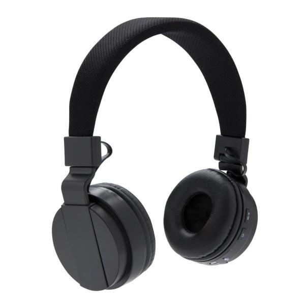 Foldable wireless headphone, black