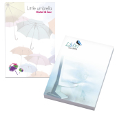 50 mm x 75 mm 100 Sheet Ad Notepads ECO Recycled paper