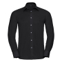 Tailored Oxford Shirt L/S, Black, 4XL, RUS