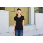 Ladies stretch v-neck t-shirt