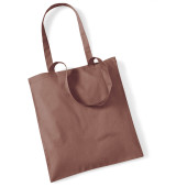 Bag for life - long handles chestnut one size