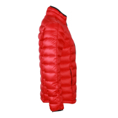 Men's Quilted Down Jacket - rood/zwart