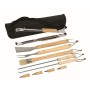 10 delig BBQ set FRIED - hout, zwart