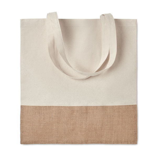 INDIA TOTE - Shopping bag w/ jute details